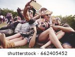 friends making selfie at the... | Shutterstock . vector #662405452