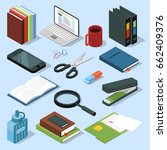 3d office equipment isometric... | Shutterstock .eps vector #662409376