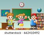 vector illustration of happy... | Shutterstock .eps vector #662410492