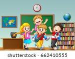 vector illustration of happy... | Shutterstock .eps vector #662410555
