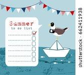 summer greeting card ... | Shutterstock .eps vector #662411938