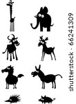 funny animal silhouettes | Shutterstock .eps vector #66241309