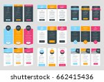collection of coloful pricing... | Shutterstock .eps vector #662415436