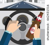 do not drink and drive  ... | Shutterstock .eps vector #662431516