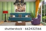 interior living room. 3d... | Shutterstock . vector #662432566