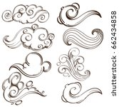 Set Of Abstract Wavy Elements....