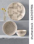 empty plate  cooking utensils... | Shutterstock . vector #662435986