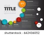 vector infographic timeline... | Shutterstock .eps vector #662436052