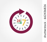 icon watch timetable 24 hours... | Shutterstock . vector #662436826