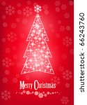 christmas tree with snowflake... | Shutterstock .eps vector #66243760