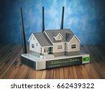 home wireless network. house... | Shutterstock . vector #662439322