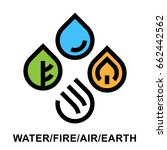 the four natural elements... | Shutterstock .eps vector #662442562