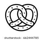 soft pretzel twisted knot bread ... | Shutterstock .eps vector #662444785