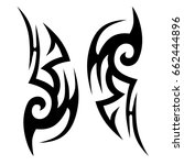 tattoo tribal vector design.... | Shutterstock .eps vector #662444896