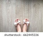 female feet and legs with... | Shutterstock . vector #662445226
