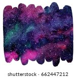 brush drawn shape cosmic... | Shutterstock . vector #662447212