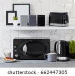 kitchenware microwave  | Shutterstock . vector #662447305