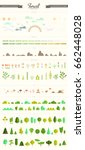 vector set of forest  park and... | Shutterstock .eps vector #662448028