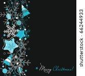 Christmas card on black - stock vector