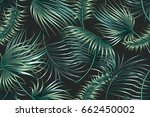tropical palm leaves  jungle... | Shutterstock .eps vector #662450002