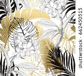 seamless tropical pattern.... | Shutterstock .eps vector #662450515