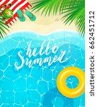 hello summer message on marine... | Shutterstock .eps vector #662451712
