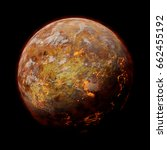 hot alien planet with volcanic... | Shutterstock . vector #662455192