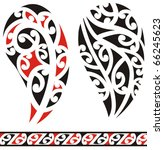 set of maori tribal tattoo | Shutterstock .eps vector #66245623