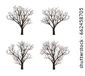 collection set of die trees... | Shutterstock .eps vector #662458705