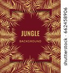 jungle background. tropical... | Shutterstock .eps vector #662458906
