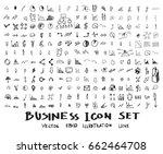 business doodles sketch vector... | Shutterstock .eps vector #662464708