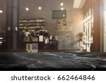 black stone table top and... | Shutterstock . vector #662464846