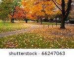 boston public garden in the... | Shutterstock . vector #66247063