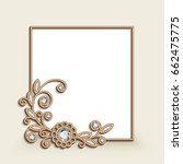 vintage photo frame with gold... | Shutterstock .eps vector #662475775