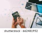 top view of businessman hand... | Shutterstock . vector #662481952