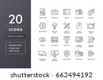 web and graphic design icons.... | Shutterstock .eps vector #662494192