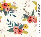 cute floral pattern in the... | Shutterstock .eps vector #662500165