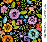 cute floral pattern in the... | Shutterstock .eps vector #662501236