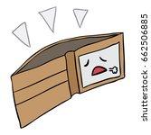 vector cartoon wallet empty... | Shutterstock .eps vector #662506885
