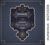 western whiskey label vintage... | Shutterstock .eps vector #662510206