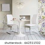 armchair in room interior | Shutterstock . vector #662511532