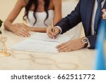 signature ceremony. cropped...   Shutterstock . vector #662511772