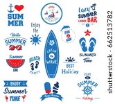 summer elements collection | Shutterstock .eps vector #662513782