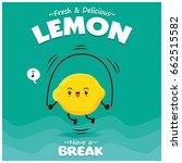 vintage lemon poster design... | Shutterstock .eps vector #662515582