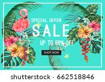 sale banner  poster. beautiful... | Shutterstock .eps vector #662518846