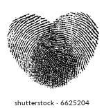 Retro Vector Two Fingerprints...