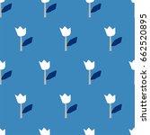 seamless pattern  flower art ... | Shutterstock .eps vector #662520895