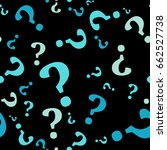 question mark seamless pattern .... | Shutterstock .eps vector #662527738