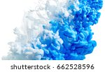 ink in water isolated on white... | Shutterstock . vector #662528596