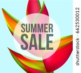 summer sale banner template... | Shutterstock .eps vector #662530012